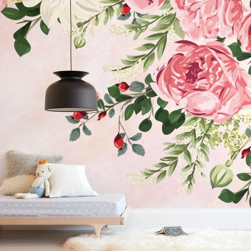 Peony Wisp Wall Mural