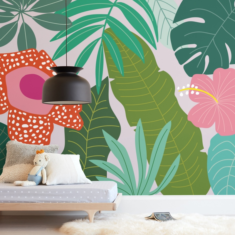 rainforest leaves Wall Mural
