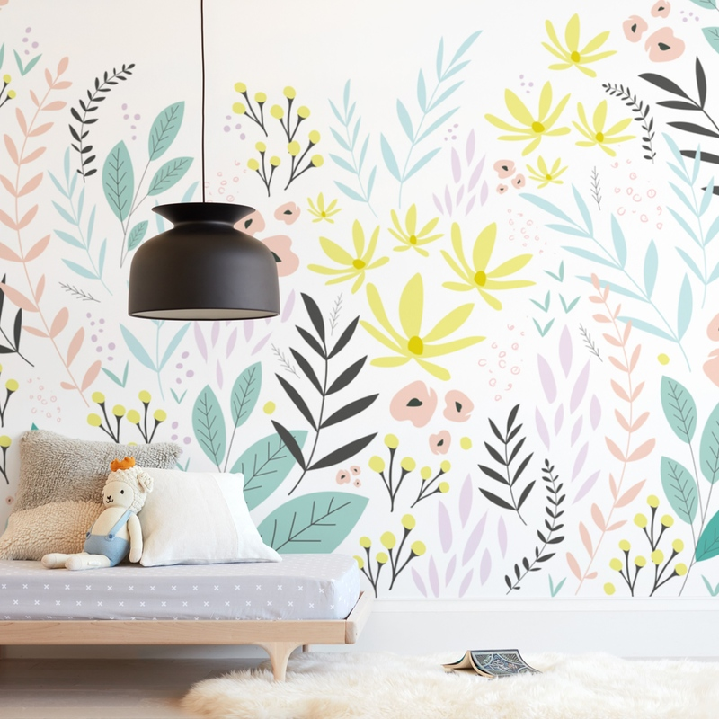Whimsical Garden Wall Mural