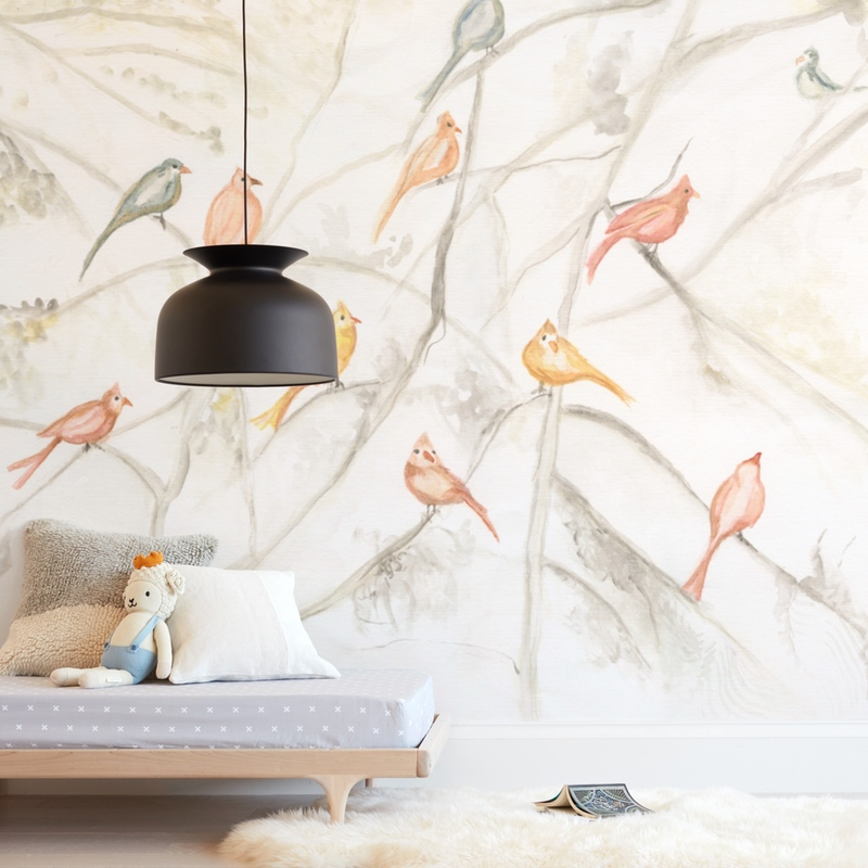 Birds on trees Wall Mural