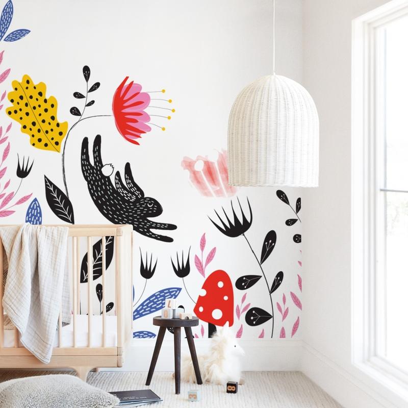 Garden Mischief Wall Mural