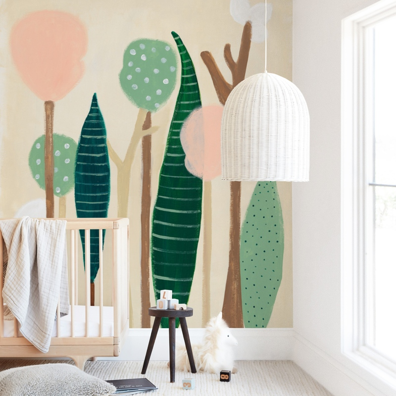 Cotton Forest Wall Mural