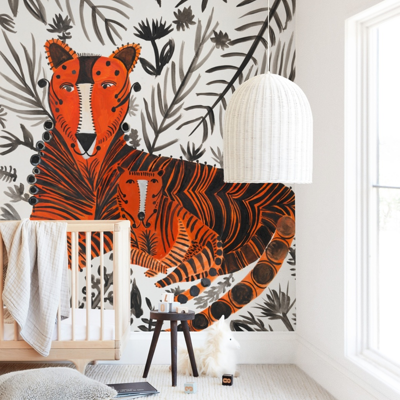 """TigerTiger"" - Kids Non-custom Wall Murals by marcia biasiello in beautiful frame options and a variety of sizes."
