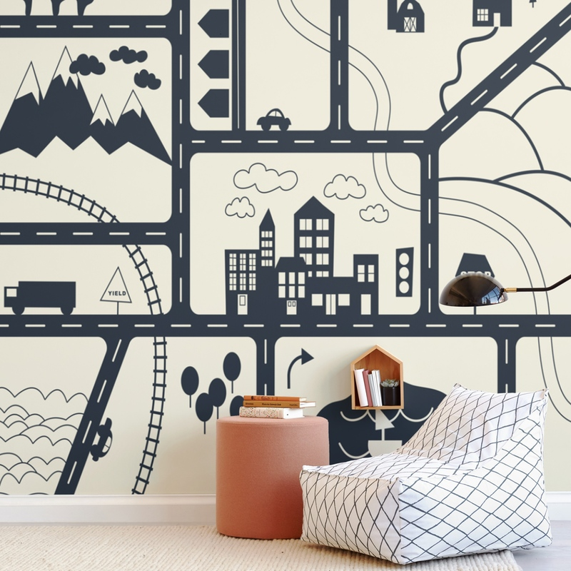 Let's Go Wall Mural