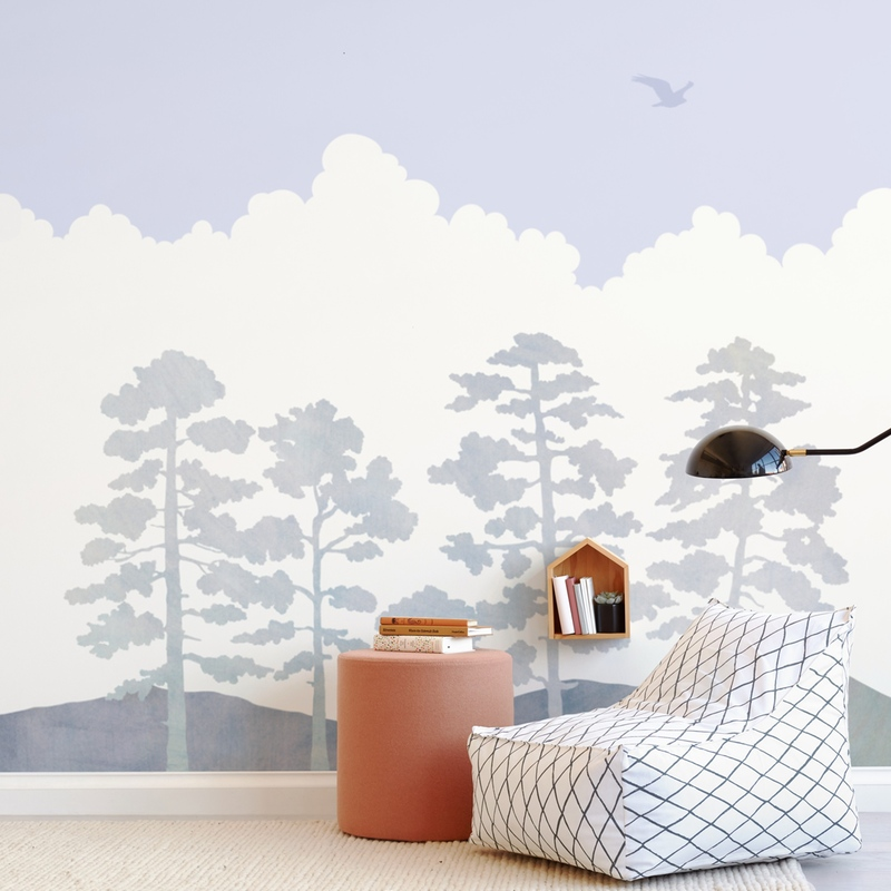 """Treetops"" - Kids Non-custom Wall Murals by Field and Sky in beautiful frame options and a variety of sizes."