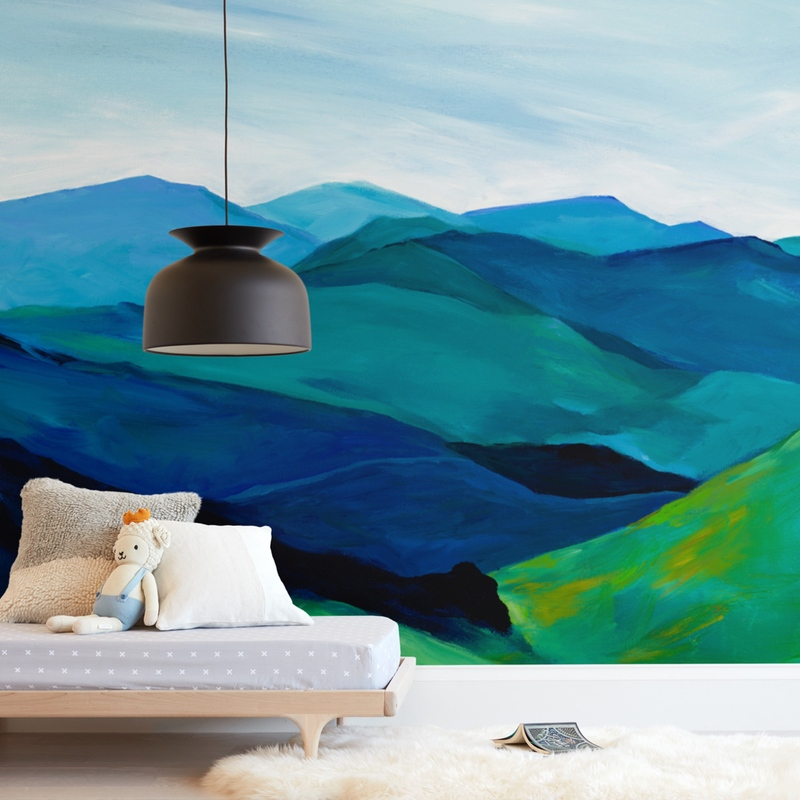 """""""Enchanted Vista"""" - Kids Non-custom Wall Murals by Jenny Partrite in beautiful frame options and a variety of sizes."""