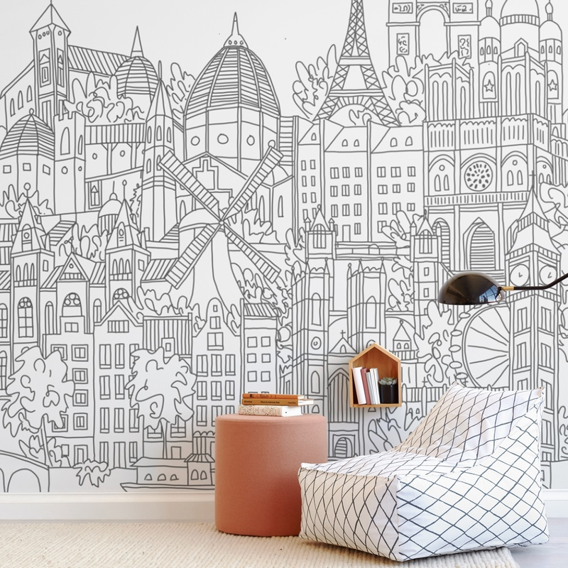 Study Abroad Wall Mural
