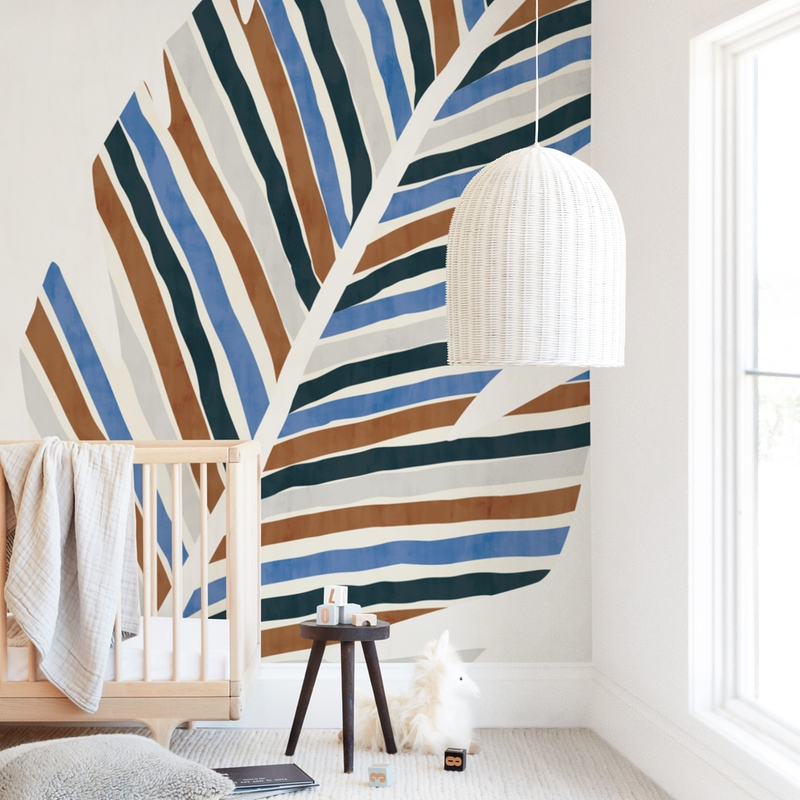 Abstract Palm Leaf Wall Mural