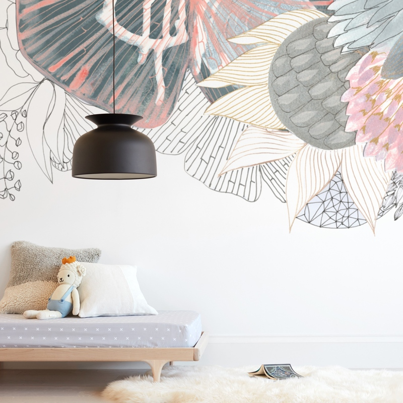 """""""Imagine Blooms - Landscape"""" - Kids Non-custom Wall Murals by Maggie Burns in beautiful frame options and a variety of sizes."""