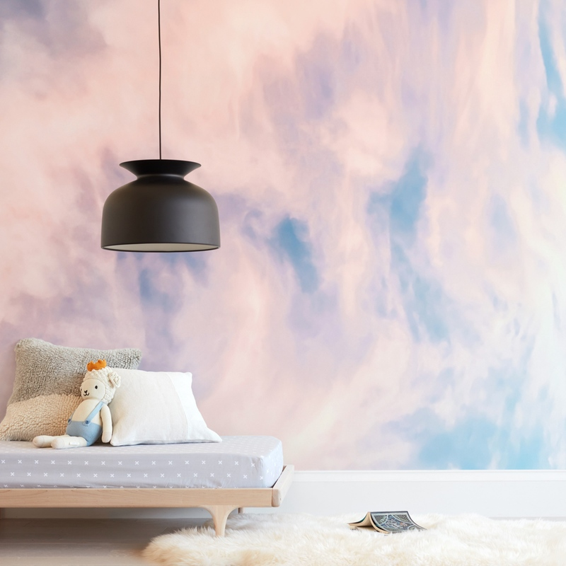 """""""Cotton Candy Sky"""" - Kids Non-custom Wall Murals by Kamala Nahas in beautiful frame options and a variety of sizes."""