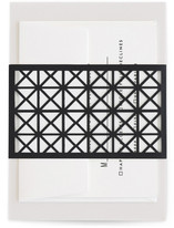 This is a black belly band by Minted called Bold Geometry.