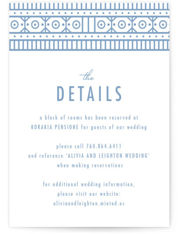 This is a bold and typographic, vintage, Direction Cards by Melanie Kosuge called ALIVIA with Letterpress printing on 100% Cotton in Card Flat Card format. A modern wedding invitation featuring elegant, original, geometric illustration and pattern design.