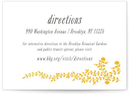 Rose Garden Letterpress Directions Cards