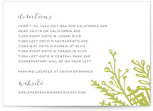 Garden Letterpress Directions Cards