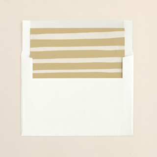 """Whimsy Stripes"" - Modern, Simple Slip-in Envelope Liners in Cookie Dough by Carolyn MacLaren."