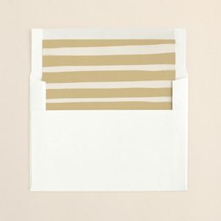 """Whimsy Stripes"" - Modern, Simple Slip-in Envelope Liners in Cookie Dough by Carolyn MacLaren."