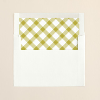 """""""Big and Merry"""" - Simple, Minimalist Slip-in Envelope Liners in Citron by Carrie ONeal."""
