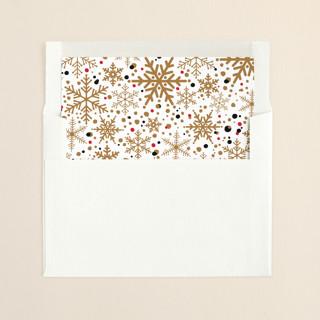 """Sophisticated Snow"" - Elegant, Vintage Slip-in Envelope Liners in Gold by Melissa Egan of Pistols."
