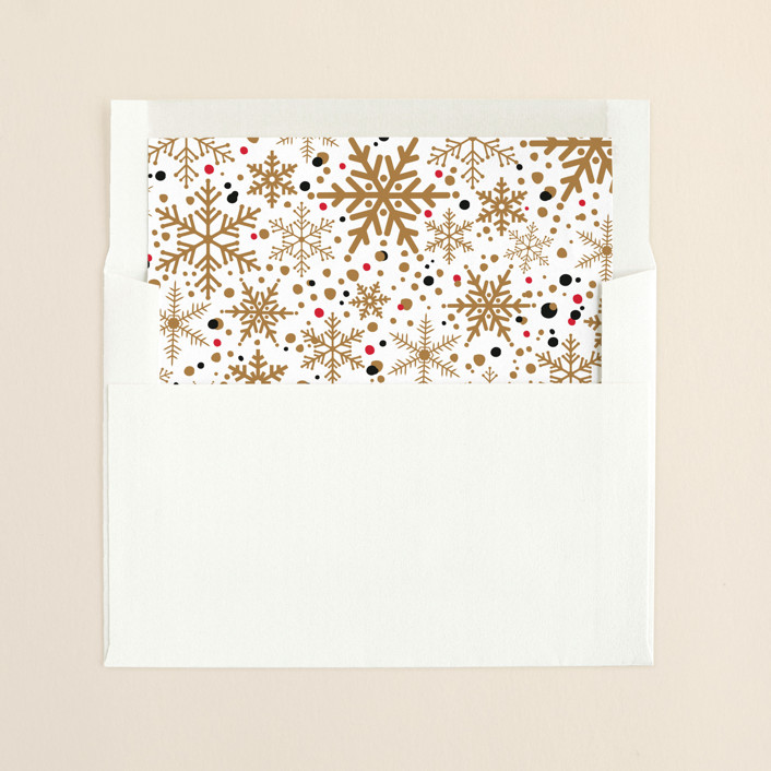 """Sophisticated Snow"" - Elegant, Vintage Slip-in Envelope Liners in Gold by Pistols."
