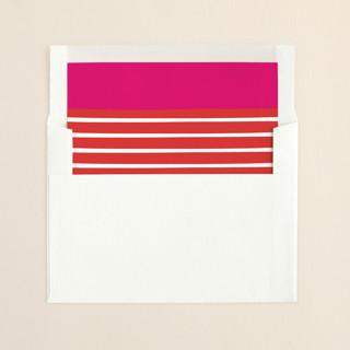 """Let Joy Overflow"" - Modern Slip-in Envelope Liners in Bright Magenta by Frooted Design."