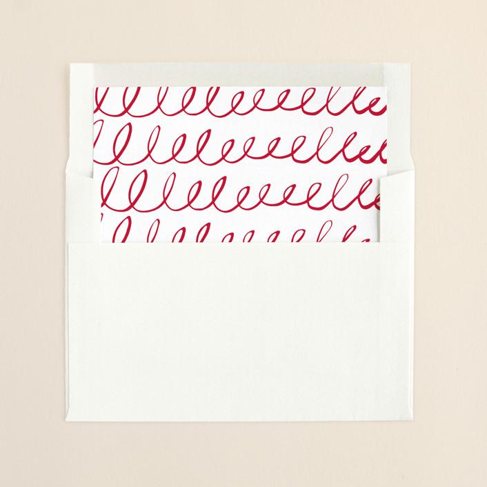 """""""Snowy Love and Joy"""" - Modern, Simple Slip-in Envelope Liners in Snow by Melanie Severin."""