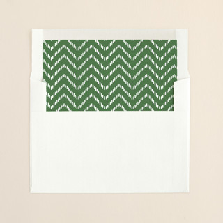 """Snow Florals"" - Simple Slip-in Envelope Liners in Pine by Alethea and Ruth."