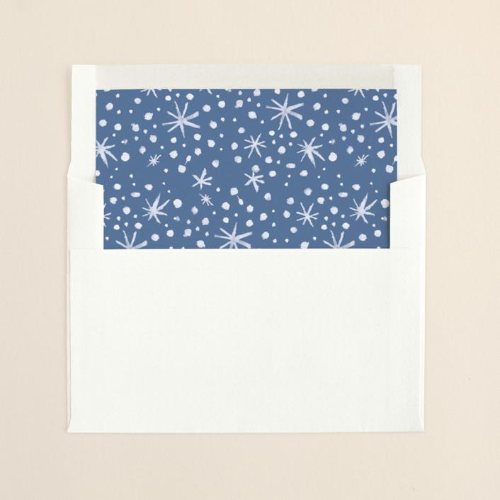 """""""Just Gotta Believe"""" - Simple Slip-in Envelope Liners in Periwinkle by Carol Fazio."""