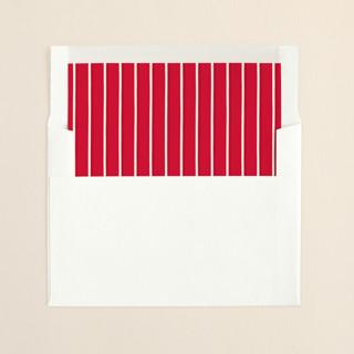 """""""Warm Greetings"""" - Simple, Modern Slip-in Envelope Liners in Sangria by GeekInk Design."""