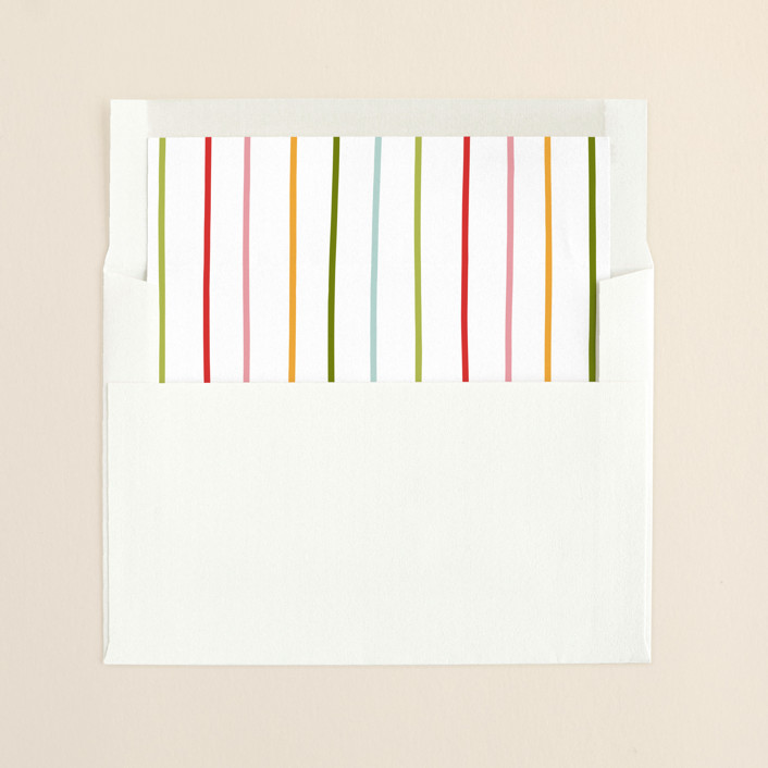 """Jingly"" - Simple, Minimalist Slip-in Envelope Liners in Christmas Lights by Kelly Nasuta."