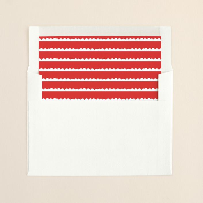 """""""Happy Retro Script"""" - Simple Slip-in Envelope Liners in Cherry by Kristie Kern."""