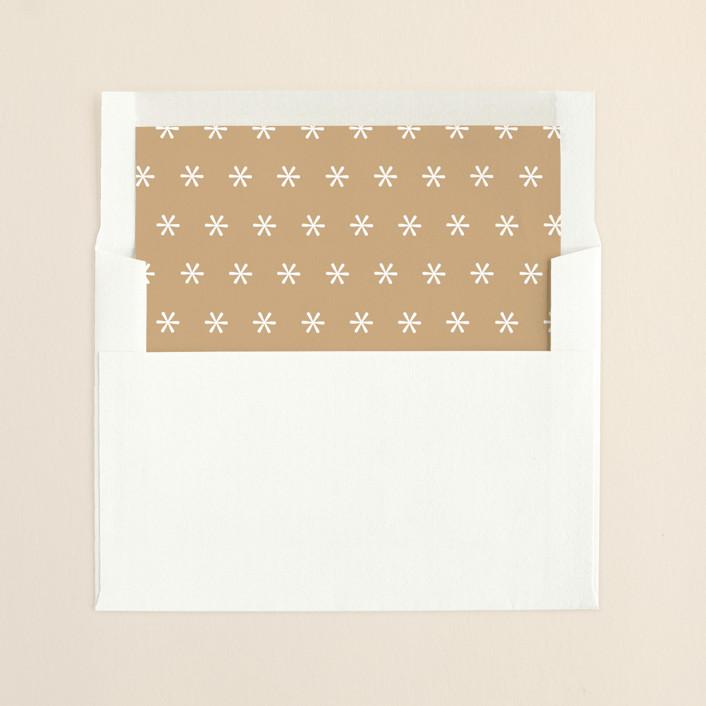 """""""Film Strip"""" - Minimalist, Simple Slip-in Envelope Liners in Golden by Lori Wemple."""