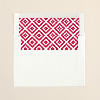 """""""Gallery"""" - Simple Slip-in Envelope Liners in Berry by Carrie ONeal."""