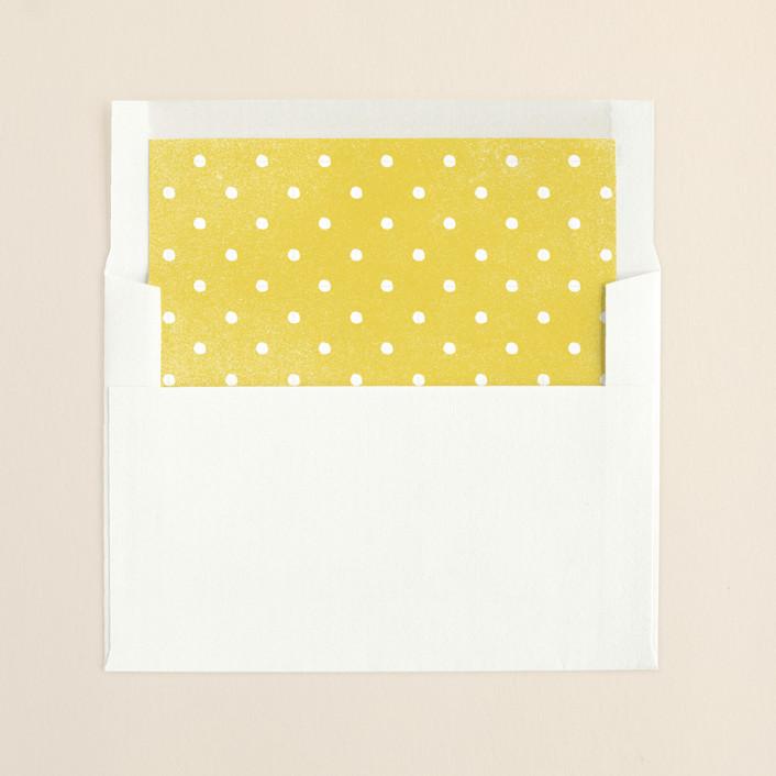"""""""Joy Always"""" - Modern, Simple Slip-in Envelope Liners in Electric Light by Jennifer Wick."""