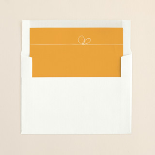 """The Happy Couple"" - Hand Drawn, Hand Drawn Slip-in Envelope Liners in Dark Yellow by R studio."