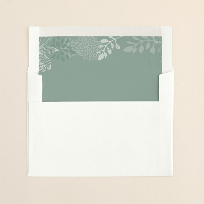 """Fling"" - Rustic, Rustic Slip-in Envelope Liners in Dusty Aqua by Andrea Mentzer."