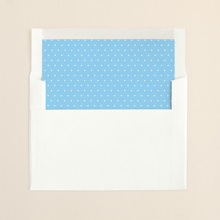 """Chandelier"" - Classical, Classical Slip-in Envelope Liners in Summer Sky by Splendid Press."