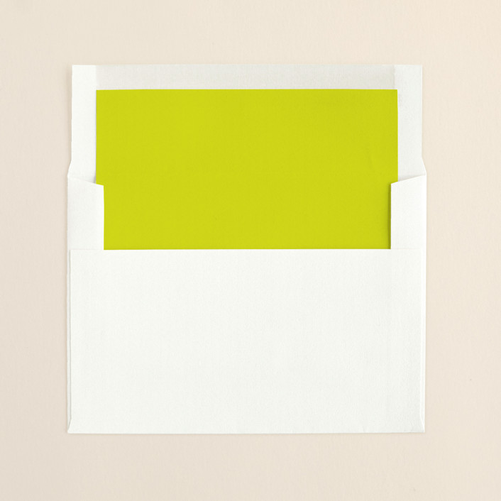 """Infinite"" - Formal Slip-in Envelope Liners in Bright Lime by The AV Design Factory."