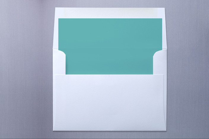 """""""Lovenest"""" - Whimsical & Funny, Whimsical & Funny Slip-in Envelope Liners in Bright Teal by kelly robinson harris."""