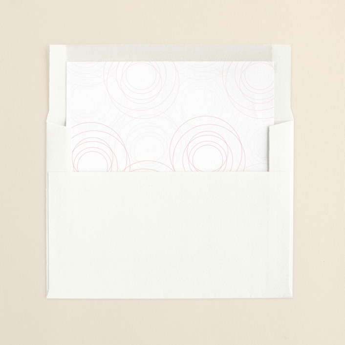 """Circles of Love"" - Formal, Formal Slip-in Envelope Liners in Rosebud by Love Letters."