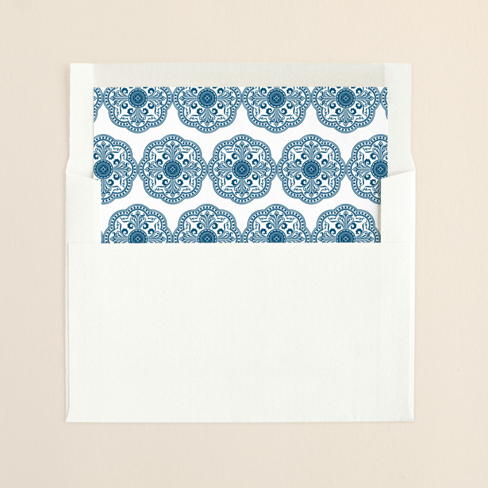 """""""Ornamental"""" - Slip-in Envelope Liners in Sapphire by Paperview Designs."""