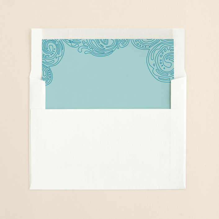 """Contemporary Chic"" - Destination, Destination Slip-in Envelope Liners in Sky Blue by Guess What Design Studio."