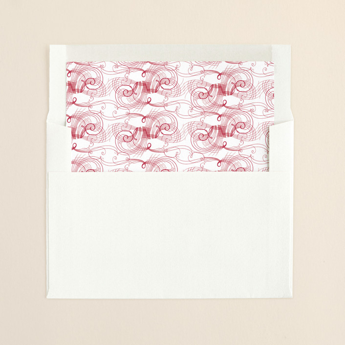 """Amy"" - Vintage, Vintage Slip-in Envelope Liners in Berry Red by Splendid Press."
