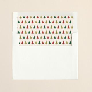 """Retro Merry & Bright"" - Vintage Slip-in Envelope Liners in Forest by Nam Bourassa."