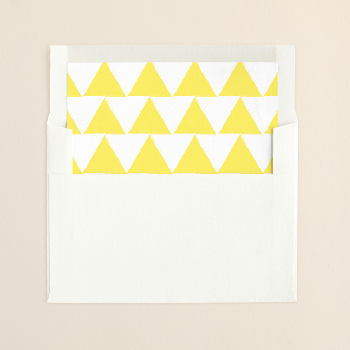 """""""Calm-ish + Bright"""" - Modern Slip-in Envelope Liners in Halo by Lizzy McGinn."""