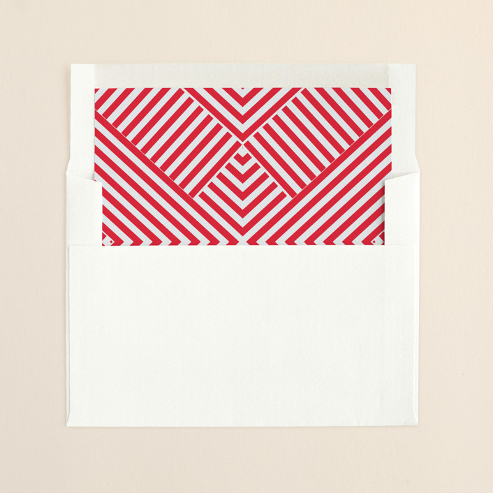 """Best Year Ever"" - Simple, Modern Slip-in Envelope Liners in Berry by Melissa Kelman."