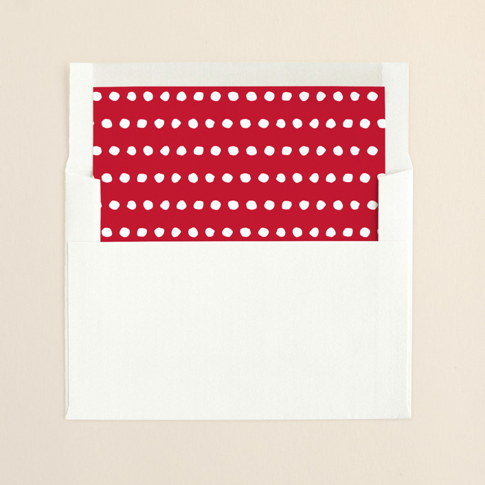 """Calligraphic Joy"" - Simple Slip-in Envelope Liners in Cherry by Sydney Newsom."