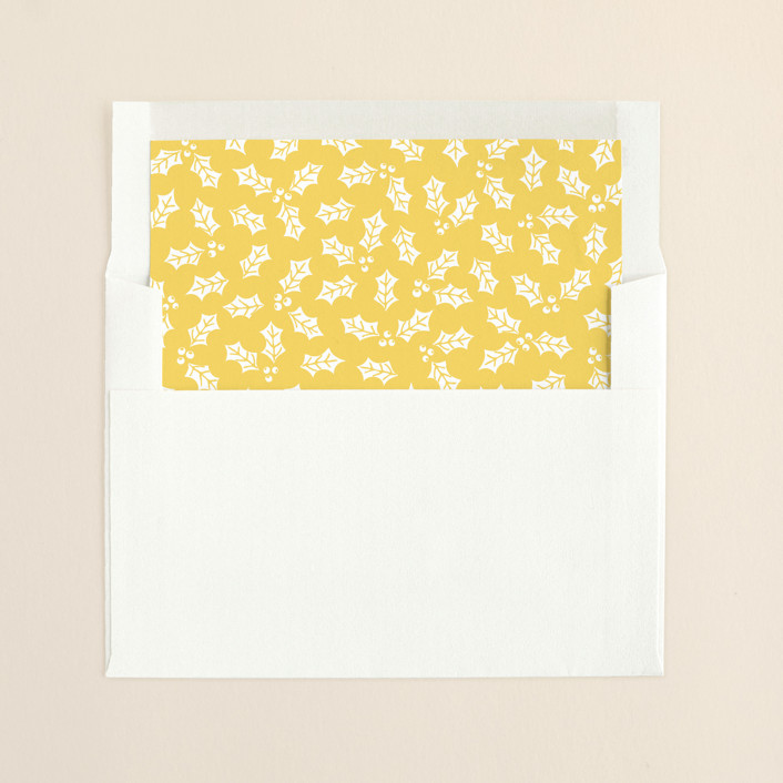 """Merry and Married"" - Floral & Botanical Slip-in Envelope Liners in Buttermilk by Hooray Creative."