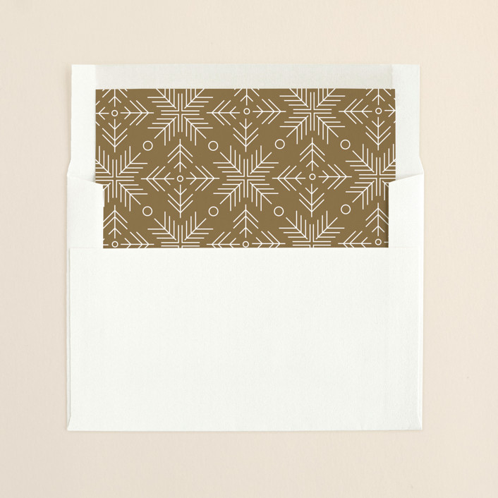 """Glimmer"" - Elegant, Modern Slip-in Envelope Liners in Toffee by Jennifer Postorino."