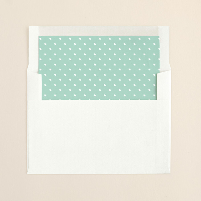 """More Joy"" - Minimalist, Modern Slip-in Envelope Liners in Polar Bear by Kaydi Bishop."