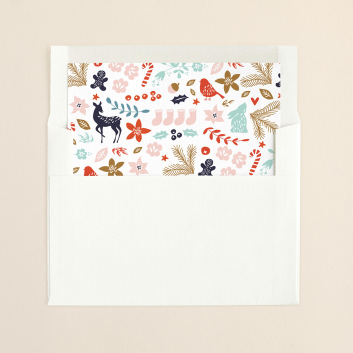 """""""All The Pretties"""" - Floral & Botanical, Whimsical & Funny Slip-in Envelope Liners in Nutmeg by Phrosne Ras."""